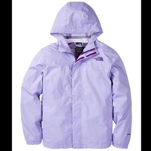 Sweet North Face zipline rain jacket 💜